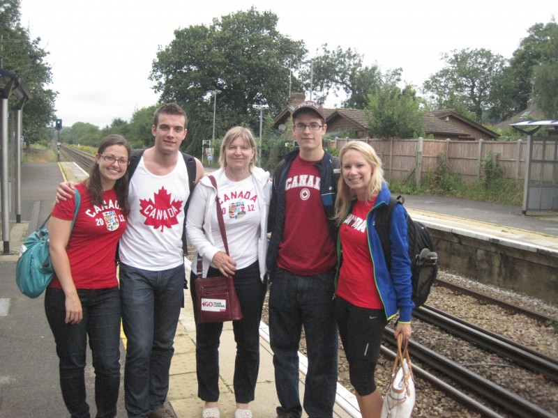 Proud Canadians at London Olympics 2012