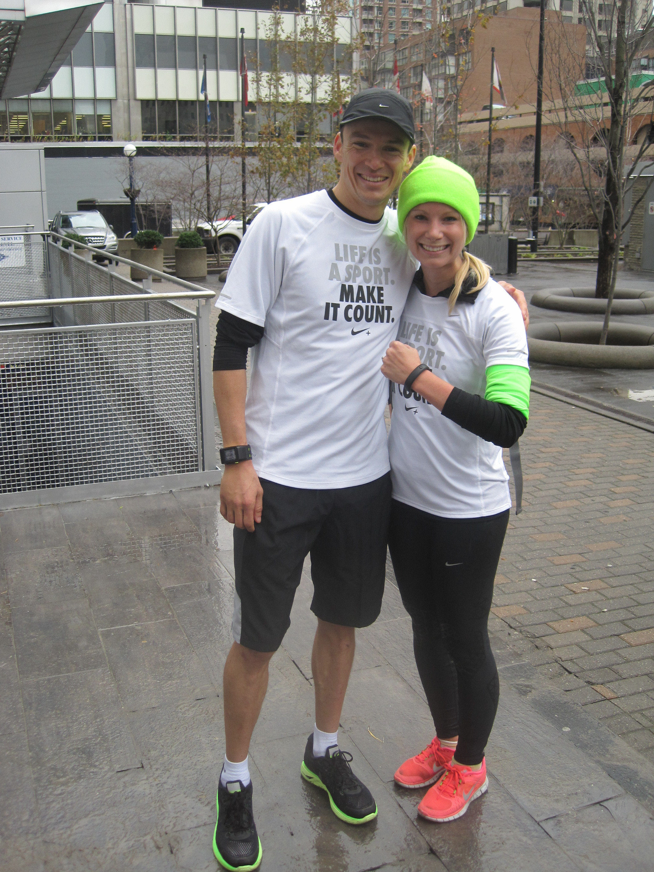Simon Whitfield at Nike + FuelBand launch in Toronto
