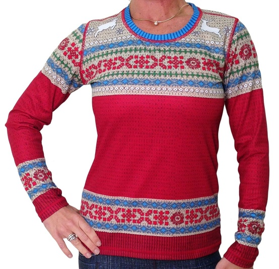 Christmas sweater running shirt