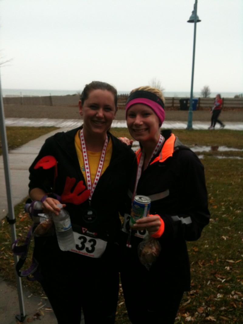 Miranda and Kennedy at Tannenbaum 10km 2012