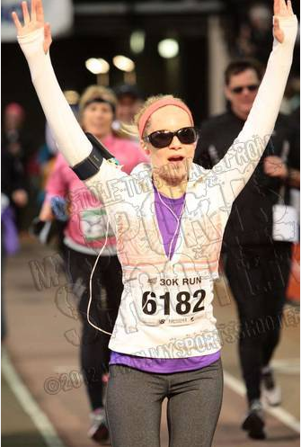 This is how I want to cross the finish line of my first marathon