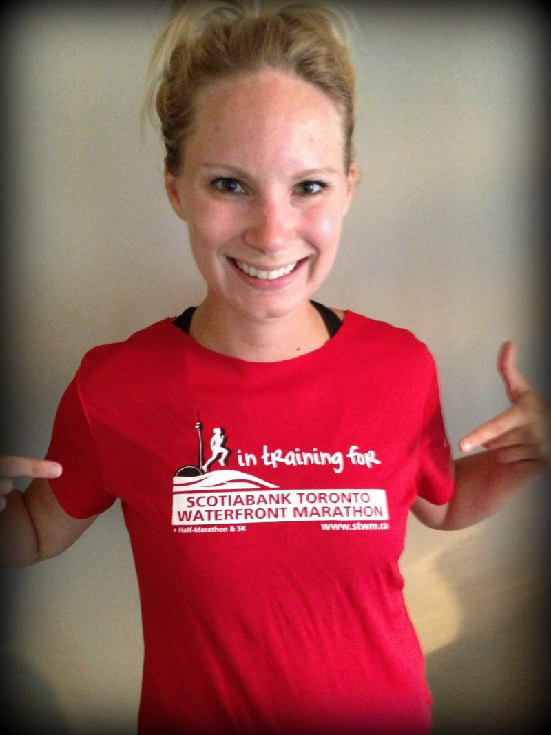 In training for the Scotiabank Toronto Waterfront Marathon