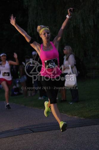 Soaring across the finish line!