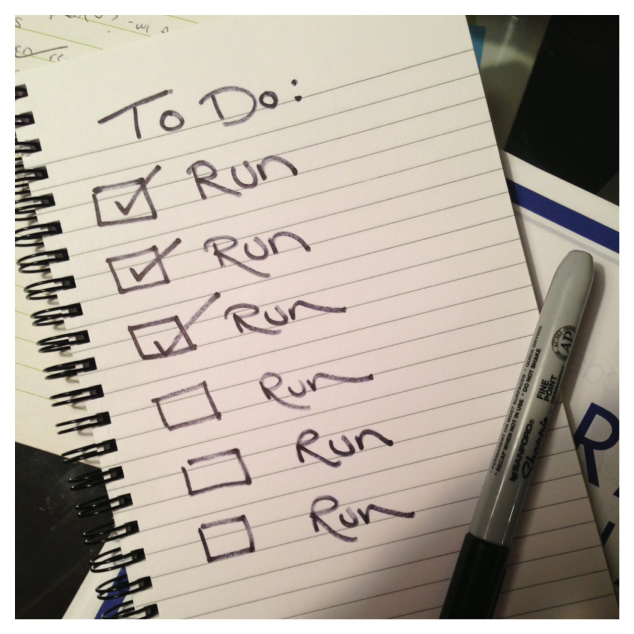 Running to do list