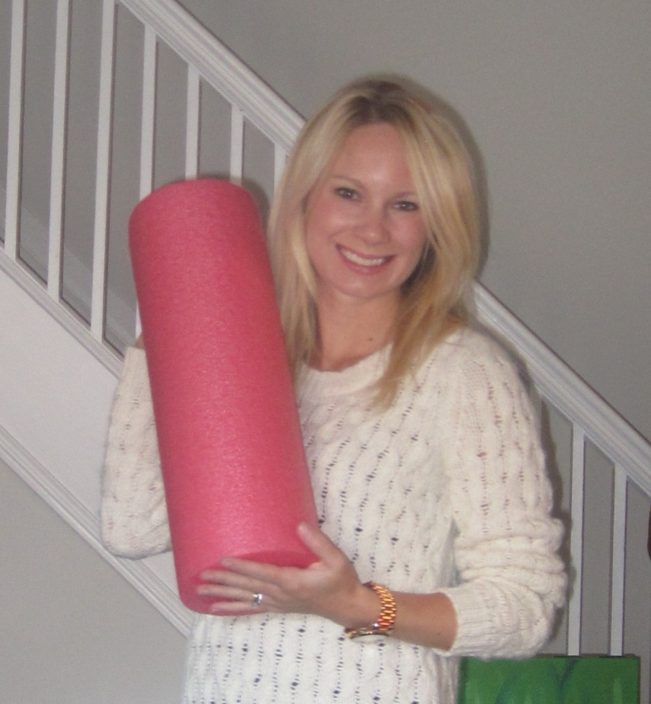 My new best friend: my foam roller.