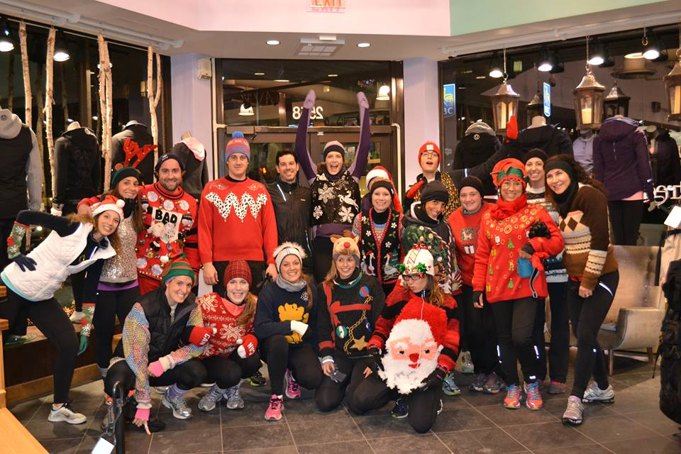 Lululemon tacky sweater run