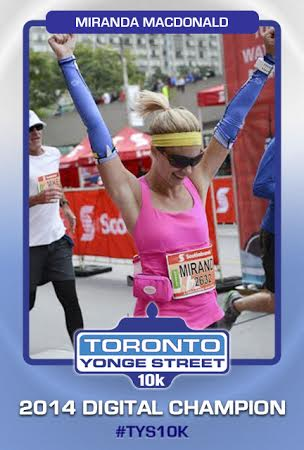 Toronto Yonge Street 10K Digital Champion Card