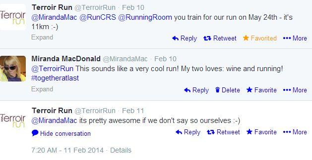 terroir run tweets