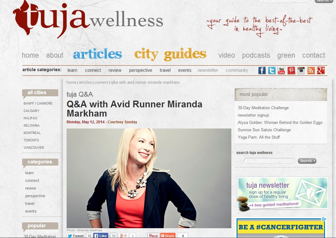 Look! It's me on Tujawellness.com