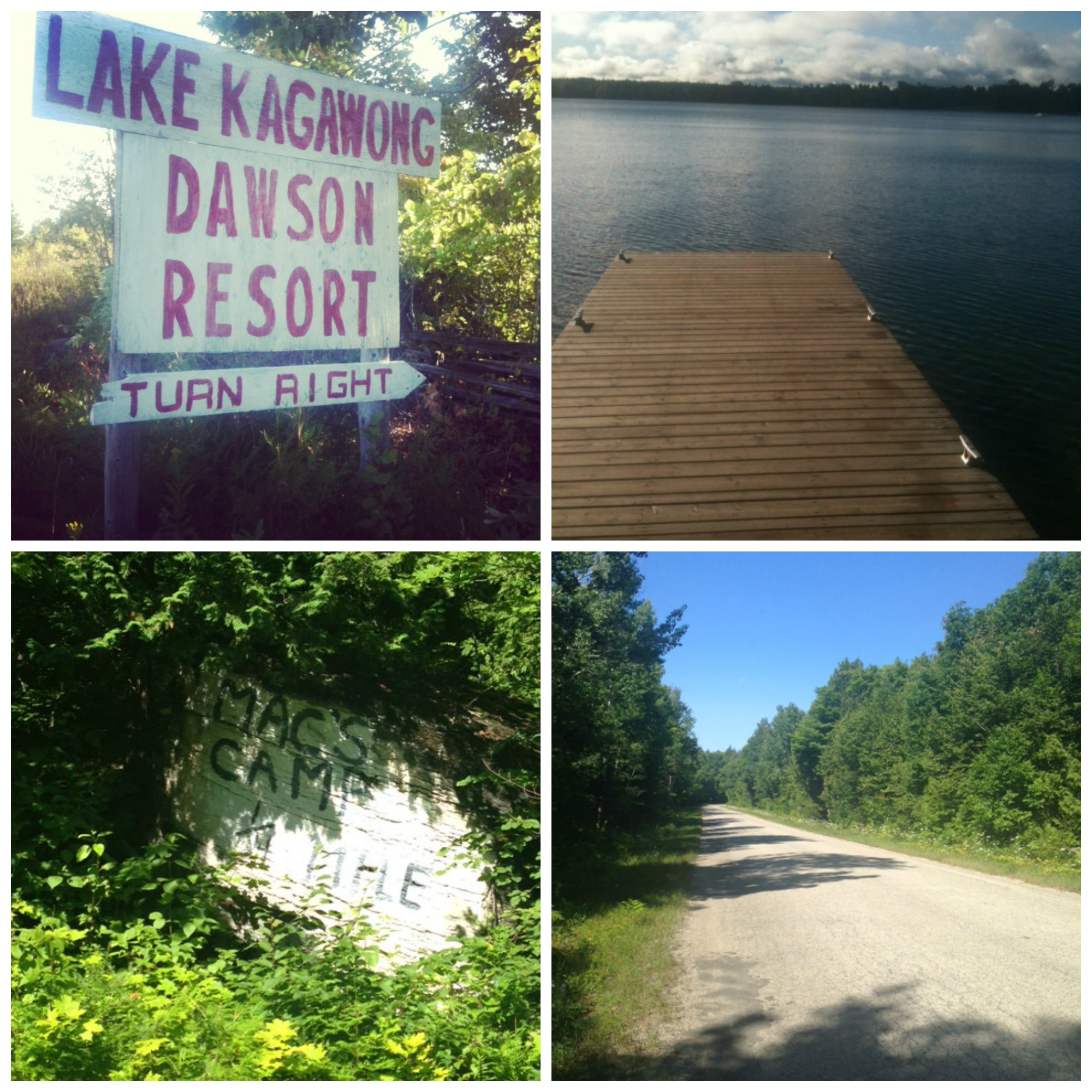 Running on Manitoulin Island near Fred's Camp