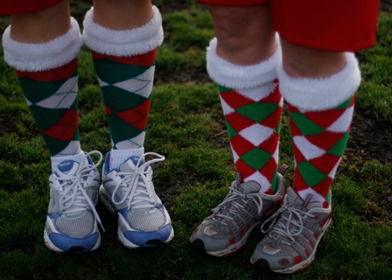 These are not my legs, or legs of anyone I know. But if I had a festive race on the horizon, I would wear these.