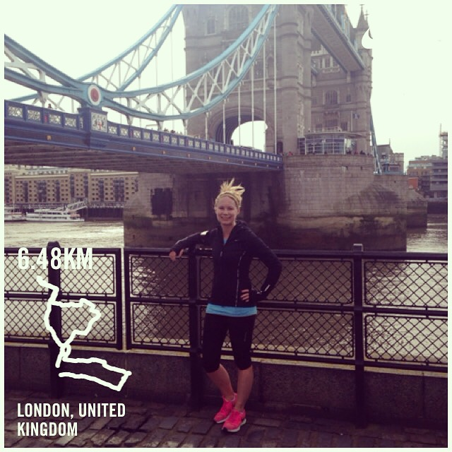 A picture midway through my first run in London.