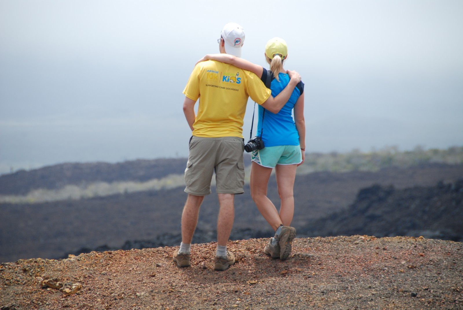 Not Kilimanjaro, but another volcano. This was at the top of the Sierra Negra volcano in the Galapagos Islands