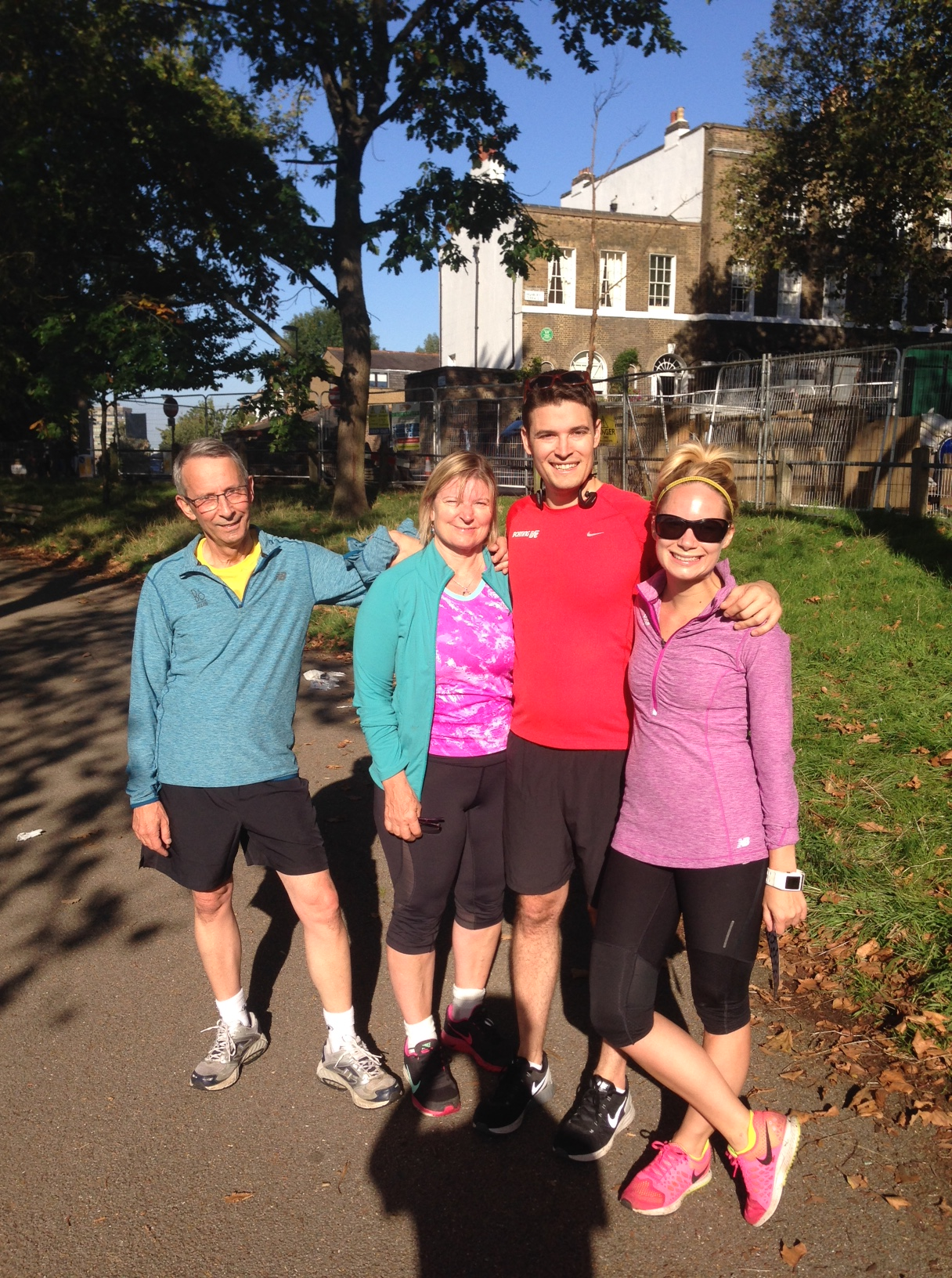 Looking oddly similar to the last 5K! We're all wearing the same shirts as last time (except Graham!)