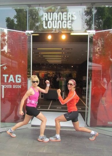 A picture of me with Run Leader Jen Dawson after one of my first runs in 2011 with the (now extinct) Nike Runner's Lounge in Toronto.