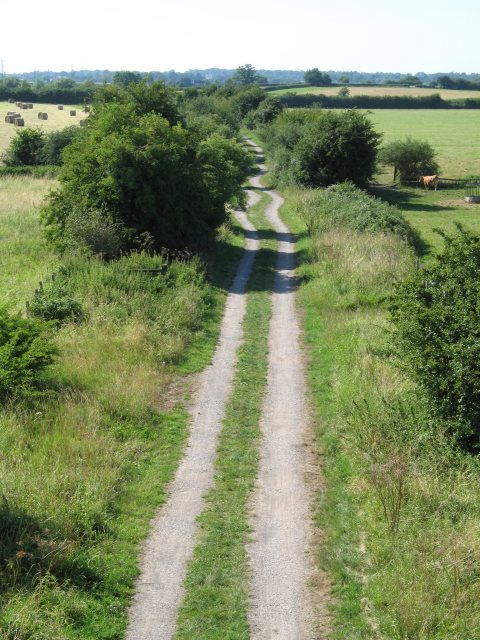 Keith took us on a run through trails that looked like this (via geograph.co.uk)