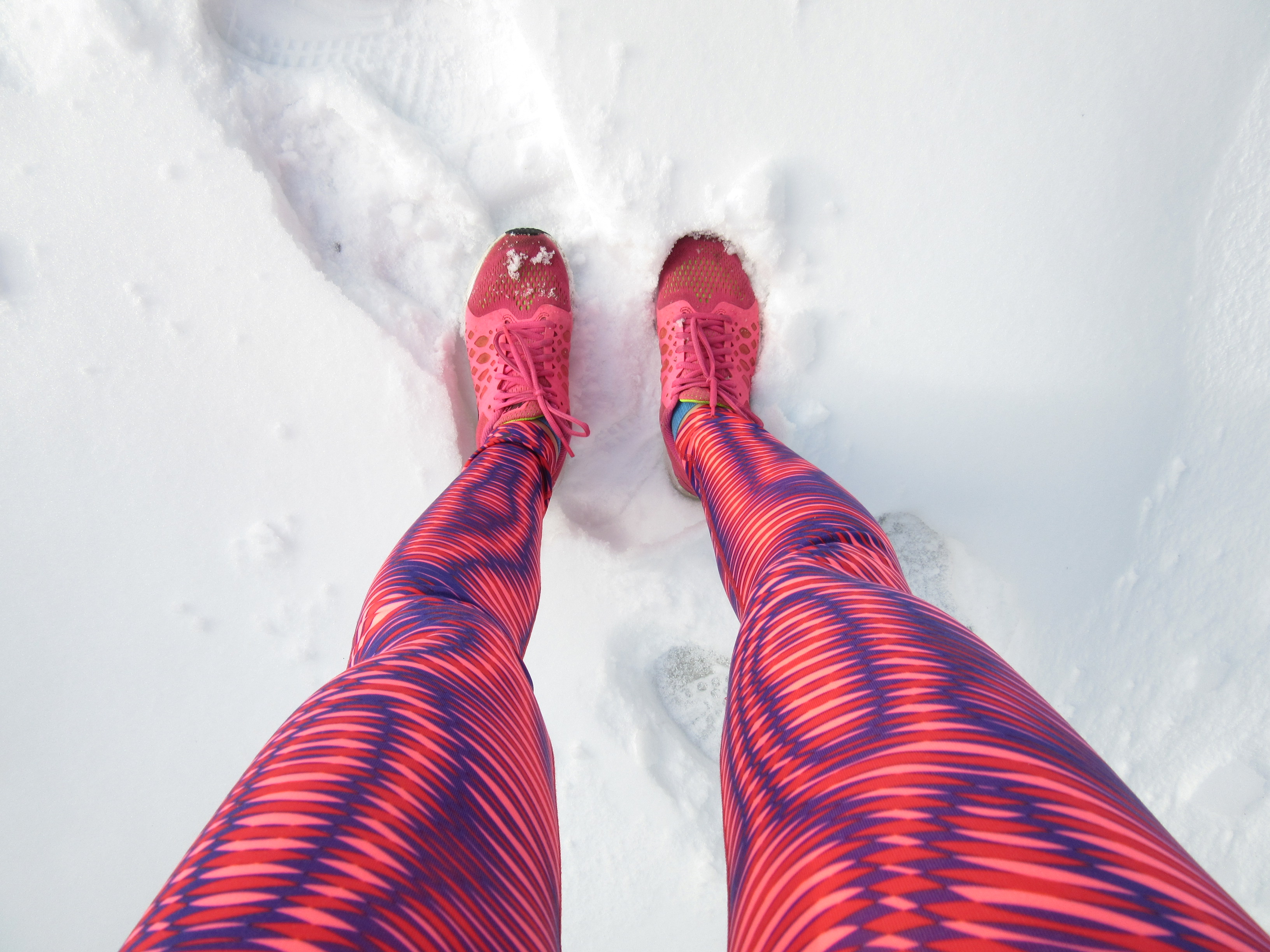 I asked for running tights in bold patterns for Christmas. Santa delivered.