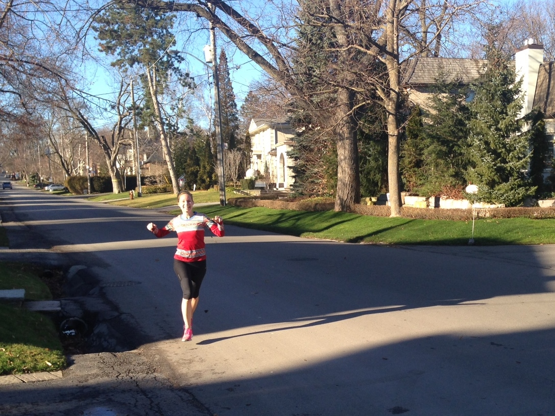 A run on Christmas Eve in Canada. 15C. No snow in sight.