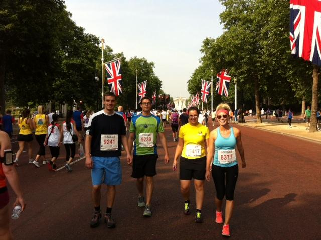 Walking down The Mall in London in 2013, getting ready for the British 10K. Might I find myself running here again in 2017?