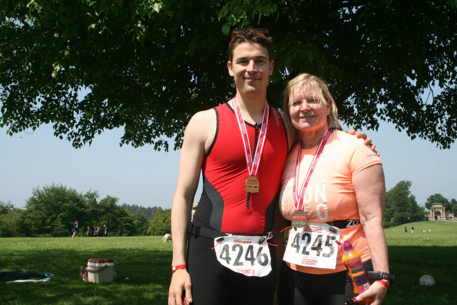 Proud finishers of the Sprint Distance Triathlon