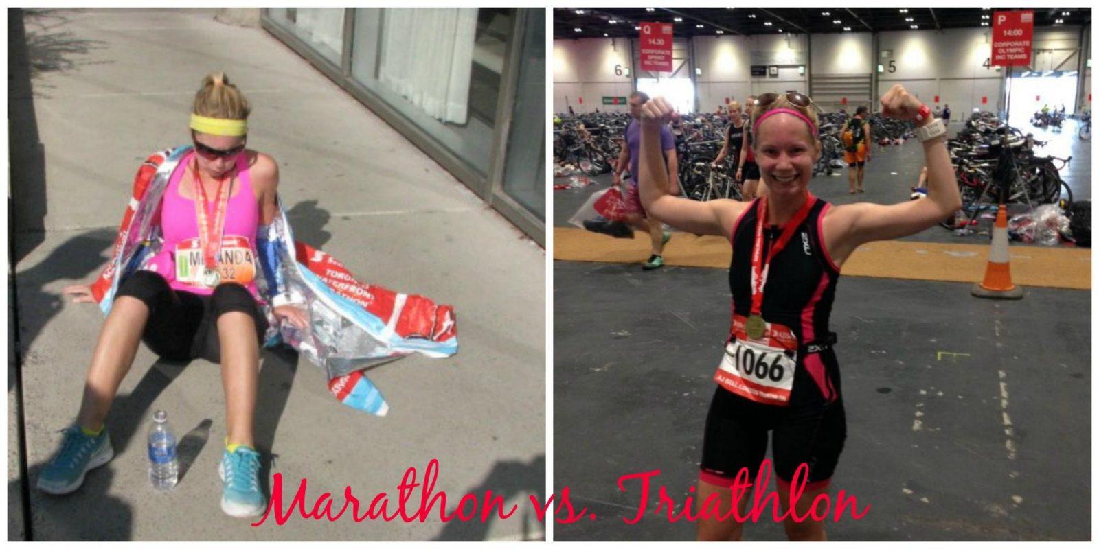 marathon vs triathlon