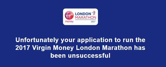 London Marathon Ballot 2017