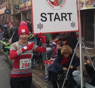 I mean, how cute is this shirt? Here I am in November 2013 about to start the Holly Jolly Fun Run in Toronto.