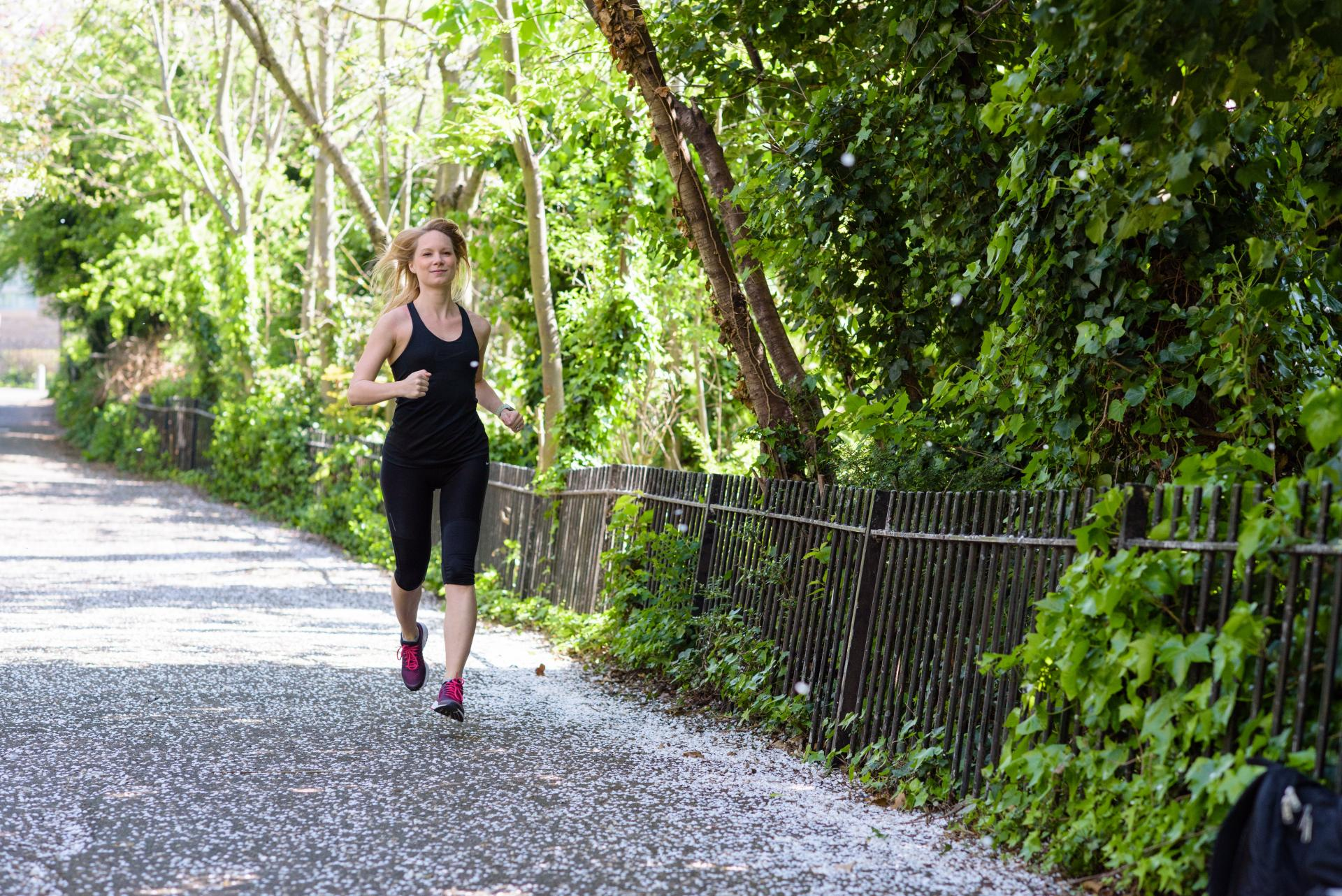 running is my happy hour