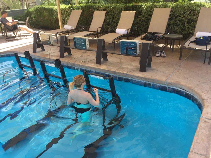 Canyon Ranch underwater treadmill
