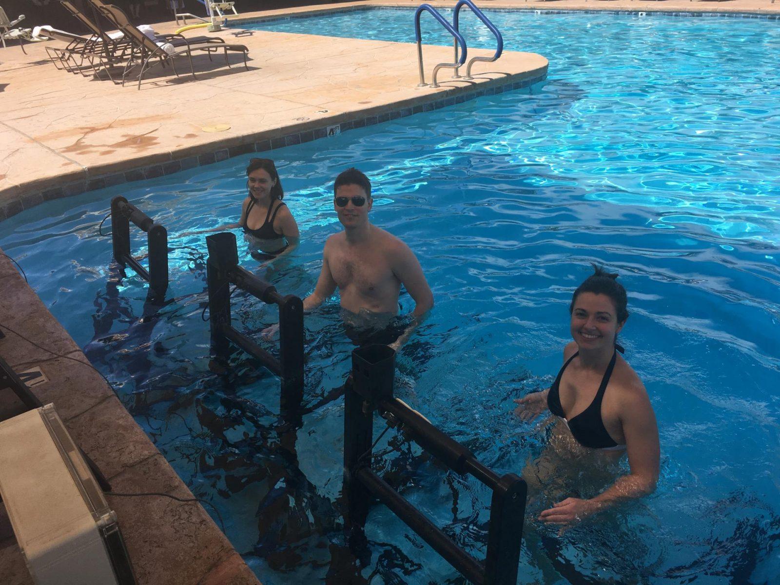 Underwater treadmill