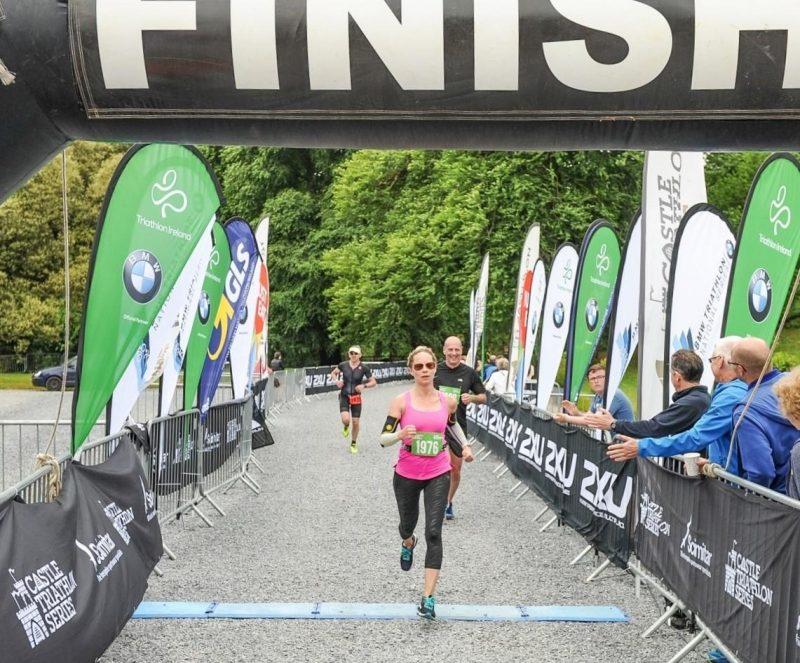 Lough Cutra finish line