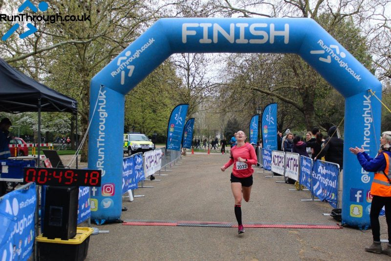Hyde Park 10k finish line