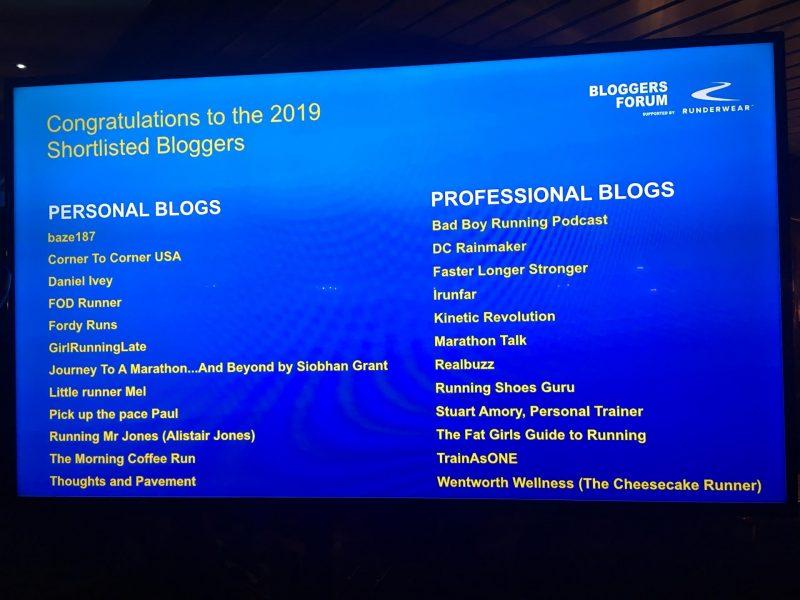 Running Awards 2019