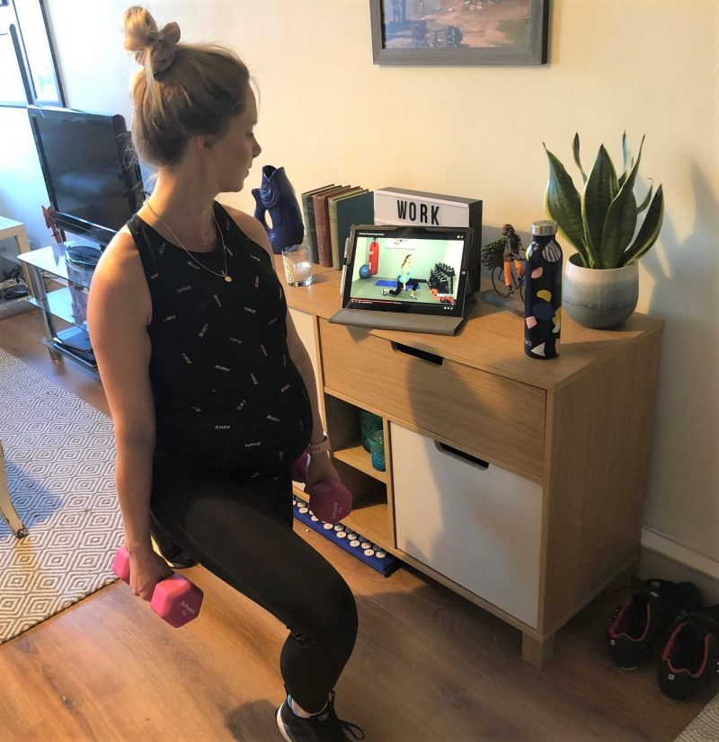 At home pregnancy workout
